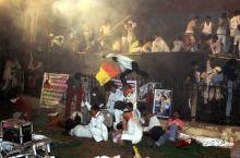 Police crackdown om Baba Ramdev supporters at Ramlila Maidan, New Delhi.