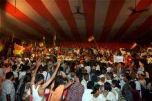 Baba Ramdev supporters