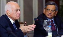S M Krishna with Nabil El Araby