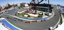 Red Bull's F1 driver Sebastian Vettel of Germany leads the race