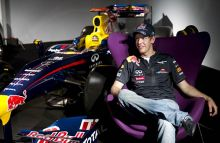 Formula One world champion Sebastian Vettel during a promotional event