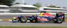 Red Bull driver Sebastian Vettel steers his car
