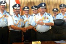 New IAF chief with Air Chief Marshal PV Naik