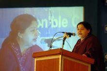 J.Jayalalithaa at CII National Council Meeting
