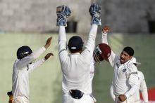 India spinner Harbhajan Singh and team-mates