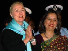Hillary Rodham Clinton and Nirupama Rao