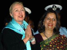 Hillary Clinton with Nirupama Rao