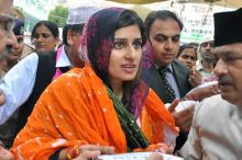 Hina Rabbani Khar at the circuit house in Ajmer