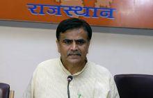 BJP Kisan Morcha leader Om Prakash Dhankar in Jaipur