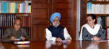 Manmohan Singh, Sonia Gandhi and Pranab Mukherjee