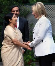 Hillary Clinton and Sushma Swaraj
