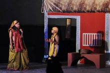 A scene from Mudra Theatre staged Pyar Ishq muhabbat