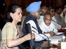 Sonai Gandhi and Manmohan Singh