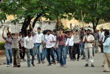 Telangana protestors