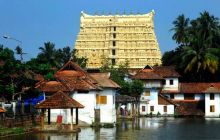 View of the 16th century old Sri Padmanabhaswamy temple in Thiruvananthapuram