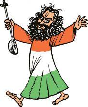 Babas show up at Ramlila Maidan to join the Anna Hazare brigade.