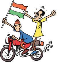 Bikers show up at Ramlila Maidan
