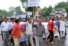 Gandhian leader Sawai Singh participated in the protest in Jaipur