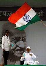 Anna Hazare at Ramlila Maidan
