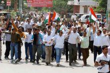 Anna Hazare supporters in Ajmer