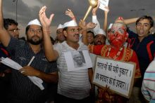 Anna supporters in Jaipur