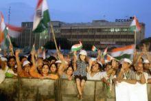 Anna Hazare supporters at Ramlila MaidanAnna Hazare supporters at Ramlila Maidan