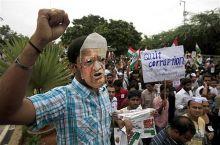 Anna Hazare supporters Ramlila Maidan