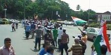 Supporters of Anna Hazare gather at Azad Maidan in Mumbai