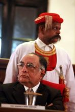Chief justice of India S. H. Kapadia delivers his speech in Mumbai