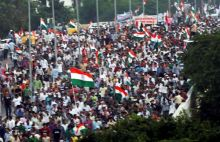 Anna Hazare supporters in Delhi