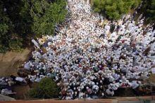 Worshippers offer namaz