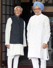 Vice President Mohd. Hamid Ansari, Prime Minister Manmohan Singh