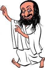 Sri Sri Ravishankar caricature