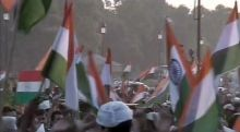 Anna Hazare supporters at India Gate