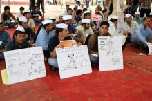 Protest marches and rallies were reported from Ajmer, Jhunjhunu, Sikar, Jodhpur, and Rajsamand