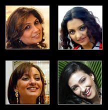 Jaya Misra, Neelanjana, Rituparna Sengupta and June Maliah