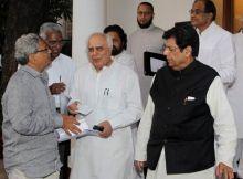 Kapil Sibal, E Ahamed,, Sitaram Yechury and D Raja