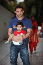 Sohail Khan and Nirvaan Khan
