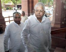 Lalu Prasad Yadav arrives to attend the Monsoon Season of Parliament
