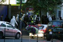 Looters break into an electrical store in Birmingham