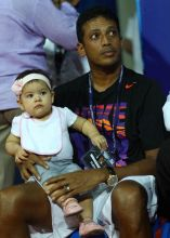 Mahesh Bhupathi with daughter Saira