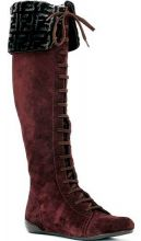 Brown suede knee high boots from Fendi