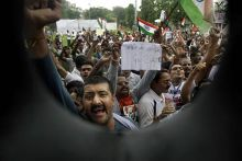 Protests against Anna's arrest