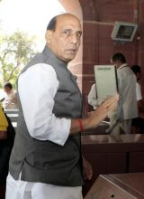 Rajnath Singh arrives to attend the Monsoon Season of Parliament