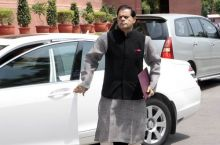 Congress MP T Subbirami Reddy arrives to attend the Monsoon Season of Parliament