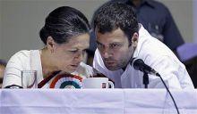 Sonia Gandhi with son Rahul