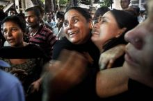 Relatives of blast victims