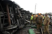 Site of train accident in Chennai