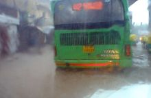 Bus servies affted due to rains