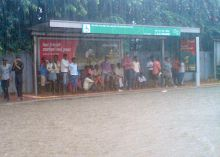 Passengers stranded at bus stop
